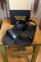 【LADY'S ITEM】 TEVA W ORIGINAL UNIVERSAL CRAFTED LEATHER (BLACK)