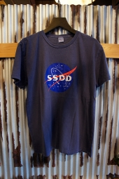 FUCT SSDD SPACE LOGO TEE (NAVY)