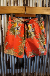 BANKS JOURNAL MACAW BOARDSHORT (CORAL RED)