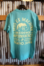 DEUS EX MACHINA SUNBLEACHED IMPERMANENCE TEE (LAGOON-YELLOW)