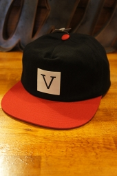 VANS × CHIMA UNSTRUCTURED SNAPBACK (BLACK/CHILI PEPPER)