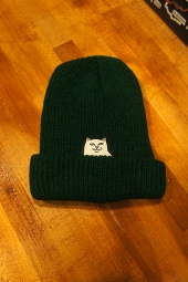 RIPNDIP Lord Nermal Ribbed Beanie (Forest)