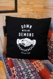 LURKING CLASS BY SKETCHY TANK DEMONS PILLOW (BLACK)