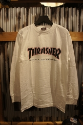INDEPENDENT x THRASHER TIME TO GRIND L/S TEE (WHITE)