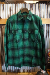 BRIXTON BOWERY L/S FLANNEL (GREEN/BLACK)