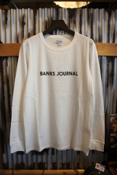 BANKS JOURNAL LABEL L/S TEE SHIRT (OFF WHITE)