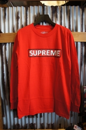 POWELL PERALTA SUPREME L/S T-SHIRT (RED)