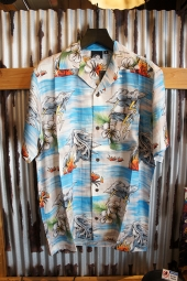 LURKING CLASS BY SKETCHY TANK ALOHA SHIRT (BLUE)