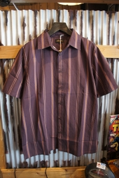 AFENDS Point Plomer SHORT SLEEVE SHIRT  (COFFEE)