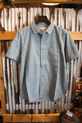 BANKS JOURNAL ROY S/S WOVEN SHIRT (DUST BLUE)