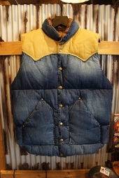 Rocky Mountain Featherbed Co. RANCH DOWN VEST (DENIM-INDIGO UW-)