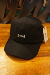 AFENDS Candy HEMP SOFT BRIM 6 PANEL CAP (BLACK)