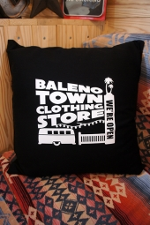 BALENO TOWN CLOTHING STORE ORIGINAL STORE LOGO PILLOW (BLACK)