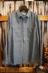 BANKS JOURNAL SHADOWS LS WOVEN SHIRT (STONE BLUE)