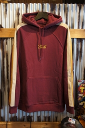 BRIXTON STITH VI HOOD FLEECE (MAROON)