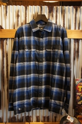 VANS X ANTI HERO WIRED FLANNEL SHIRT (TRUE BLUE-BLACK)